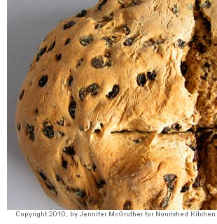 Brown Soda Bread with Currants and Caraway Seeds