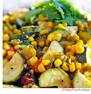 Calabasitas With Summer Corn, Zucchini, Green Chiles and Lime