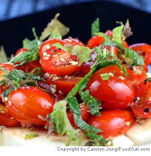 Cherry Tomato and Tofu Salad