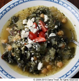 Chickpea Chard and Couscous Soup