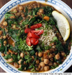 Chickpea, Lentil and Vegetable Stew