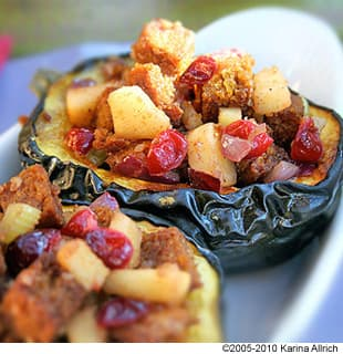 Cornbread Stuffing With Curried Apples and Cranberries