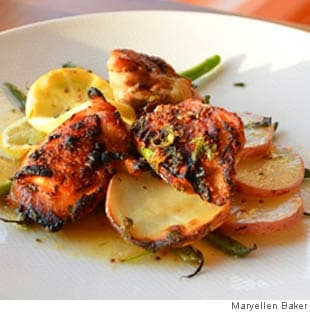 Crispy Lemony Chicken Roasted With Potatoes