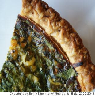 Goat Cheese, Leek and Spinach Quiche