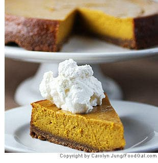 Kabocha Squash Cheesecake With Walnut Crust