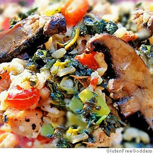 Mediterranean Chicken and Spinach Rice Bake