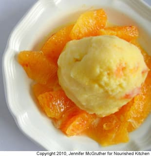 Olive Oil Ice Cream With Blood Oranges