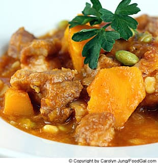 Pork Stew With Kabocha