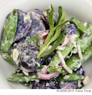 Potato Salad with Sugar Snap Peas and Creamy Tarragon Vinaigrette