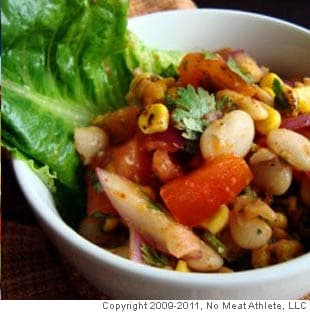 Red Chili Corn Salad With Limas and Cherry Tomatoes