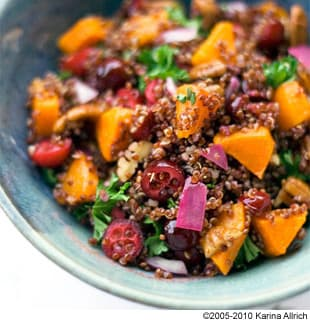 ... Red Quinoa with Roasted Butternut Squash Cranberries and Pecans Recipe
