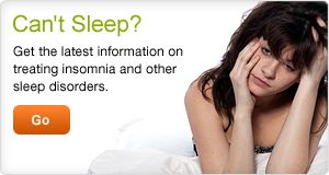 Can't Sleep? Latest info on treatment.