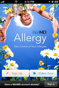 WebMD Allergy App Screenshot 1