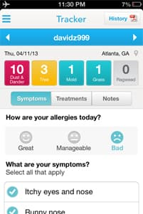 WebMD Allergy App Screenshot 9