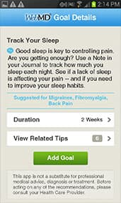 WebMD Pain App Screenshot 5