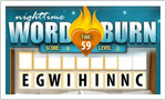 Nighttime Word Burn