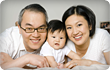 mom, dad, and baby