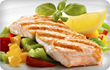 grilled salmon and vege