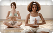 women doing yoga