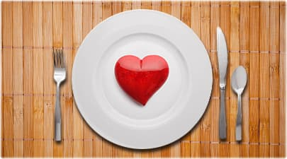 plastic heart on plate