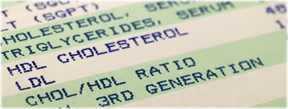 cholesterol screening results