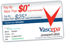 Vascepa savings card