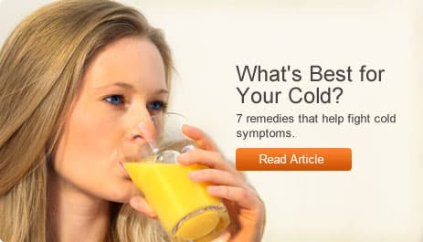 Whats Best for Your Cold