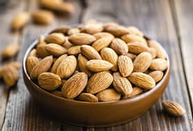 Bowl of almonds thumb