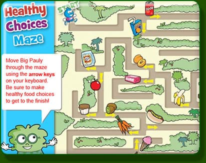 Game: Healthy choices Maze