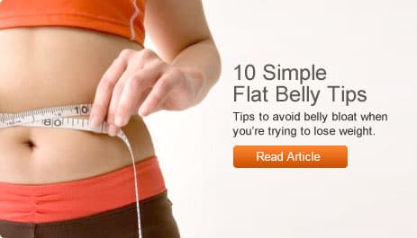 10 Simple Flat Belly Tips