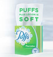 Puffs Plus Lotion is soft
