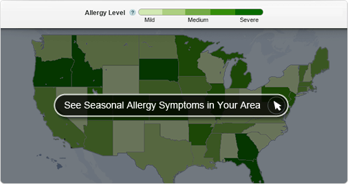 seasonal allergy map tool