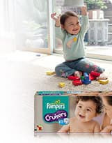 freedom to play their way Pampers Cruisers
