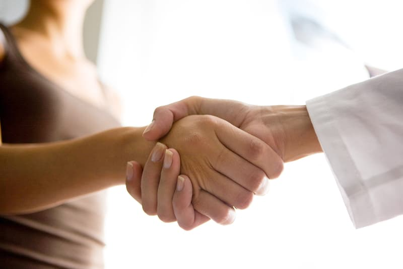photo of shaking hands