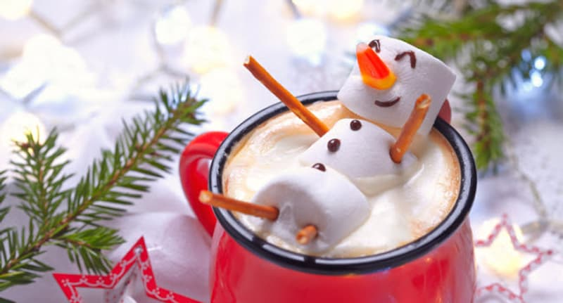 hot drink with marshmallows