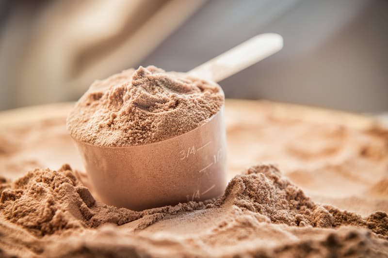 photo of protein powder scoop,