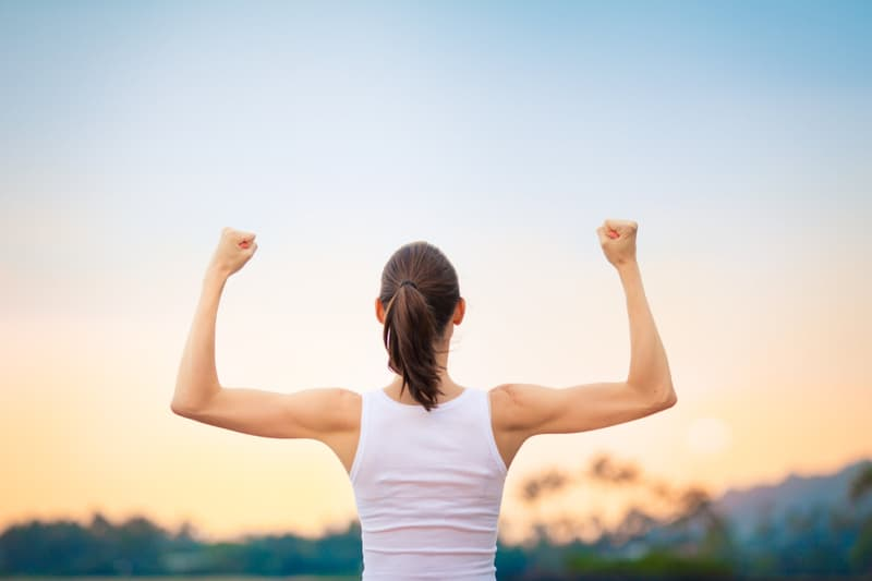 photo of woman's strong arms