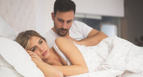 woman disinterested in sex