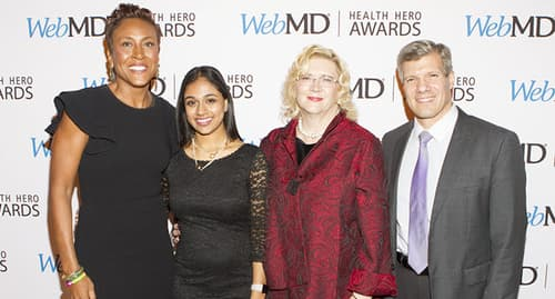 winners of WebMD Health Hero Award