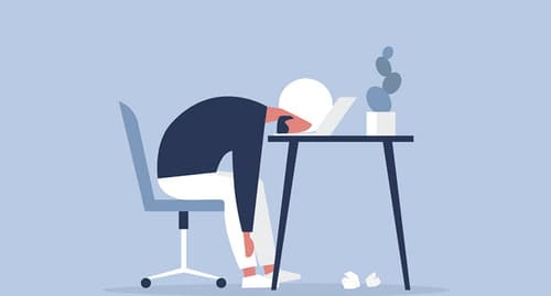 stress at work illustration