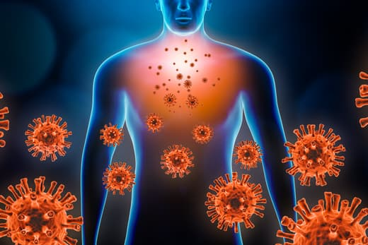 man coronavirus graphic