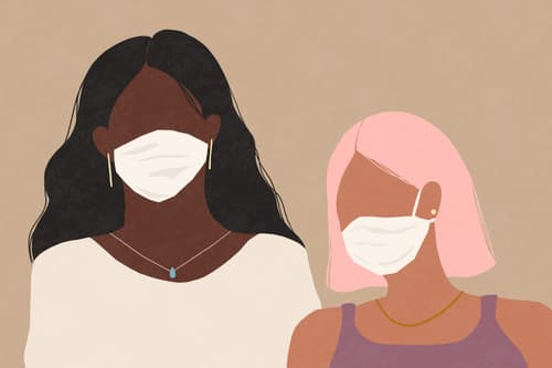 women masks illustration