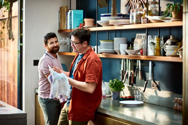 gay-couple-happy-in-kitchen