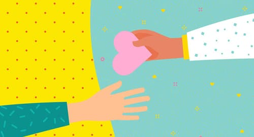 giving heart illustration