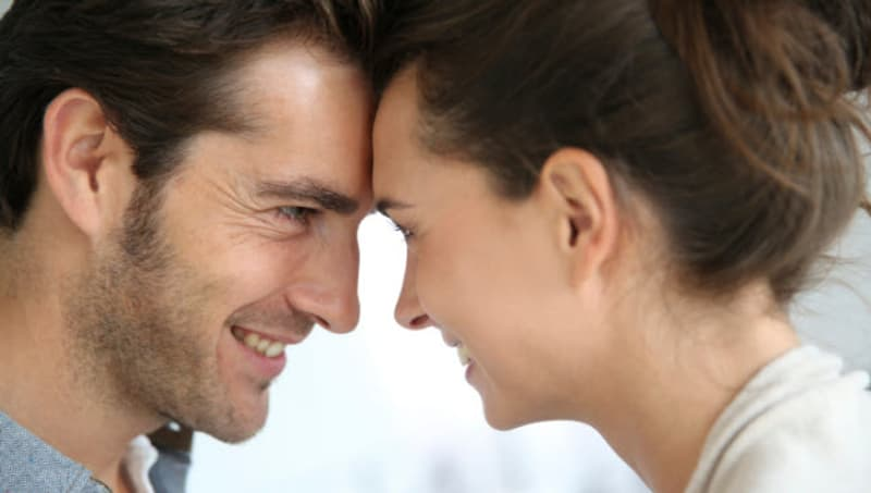 happy man and woman