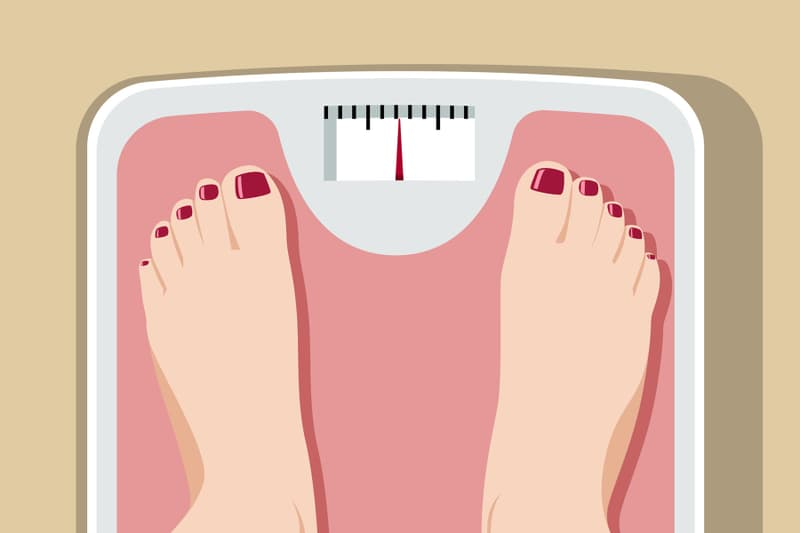 weight scale illustration