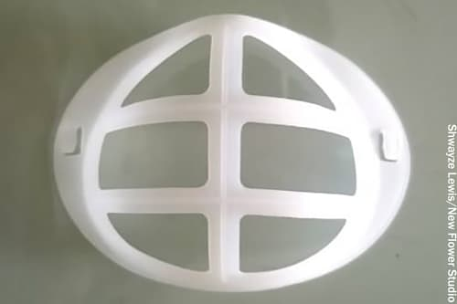 photo of mask bracket