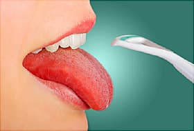tongue scraper and tongue