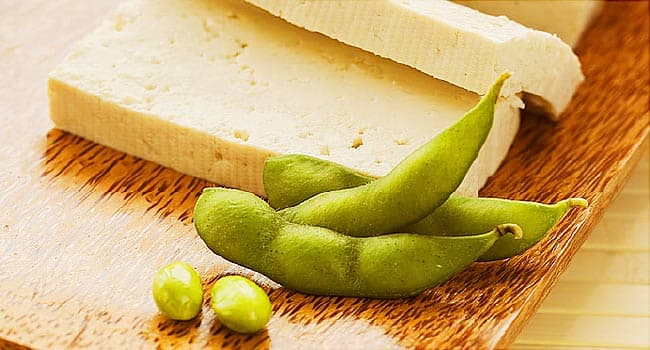 soy beans and tofu