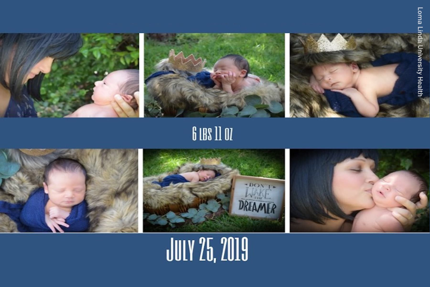 photo of baby birth announcement